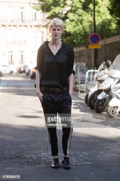 Saskia de Brauw attends the Haider Ackermann show in Haider Ackermann on June 24 2015 in Paris France