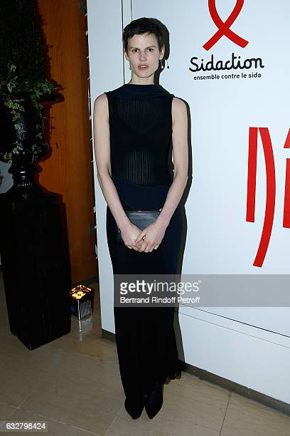 Saskia de Brauw attends the Sidaction Gala Dinner 2017 Haute Couture Spring Summer 2017 show as part of Paris Fashion Week on January 26 2017 in...