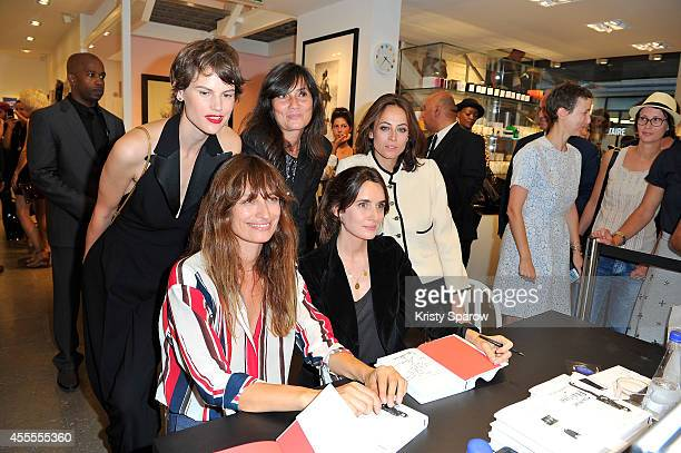 Saskia De Brauw Caroline De Maigret Emmanuelle Alt Audrey Diwan and Anne Berest pose at Colette during their book signing 'How to Be Parisian...