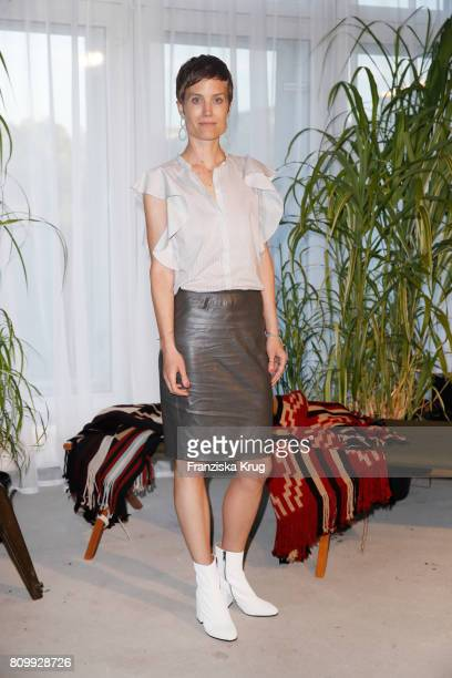 Jasmin Gerat attends the Dorothee Schumacher show during the MercedesBenz Fashion Week Berlin Spring/Summer 2018 at Kaufhaus Jandorf on July 6 2017...