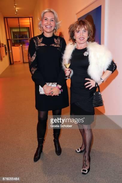 Saskia Greipl Dunja Siegel during the PIN Party 'Let's party 4 art' at Pinakothek der Moderne on November 18 2017 in Munich Germany
