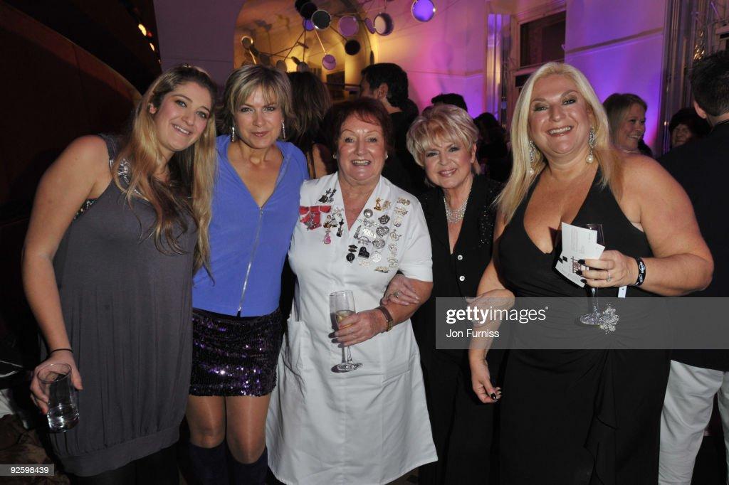 Saskia Kurer Penny Smith Rita Gilligan Gloria Hunniford and Vanessa Feltz attend the PINKTOBER Women Of Rock Charity Concert at the Royal Albert Hall...