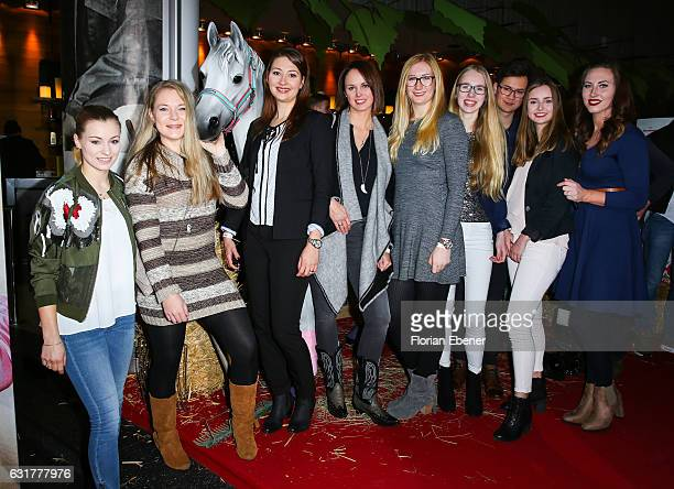 Saskia Meyer Anja Mertens Julia Koester Jenny Lara Sophie Lea and Damiana Spoeckinger attend the premiere of 'Wendy Der Film' at Cinedom on January...