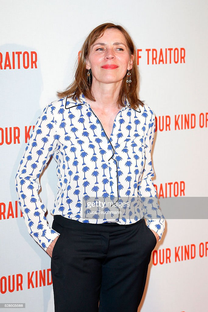Saskia Reeves arrives for the UK Gala of 'Our Kind Of Traitor' at The Curzon Mayfair on May 5, 2016 in London, England.