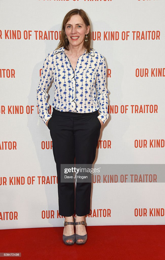 Saskia Reeves arrives for the UK Gala Screening of 'Our Kind Of Traitor' at The Curzon Mayfair on May 5, 2016 in London, England.