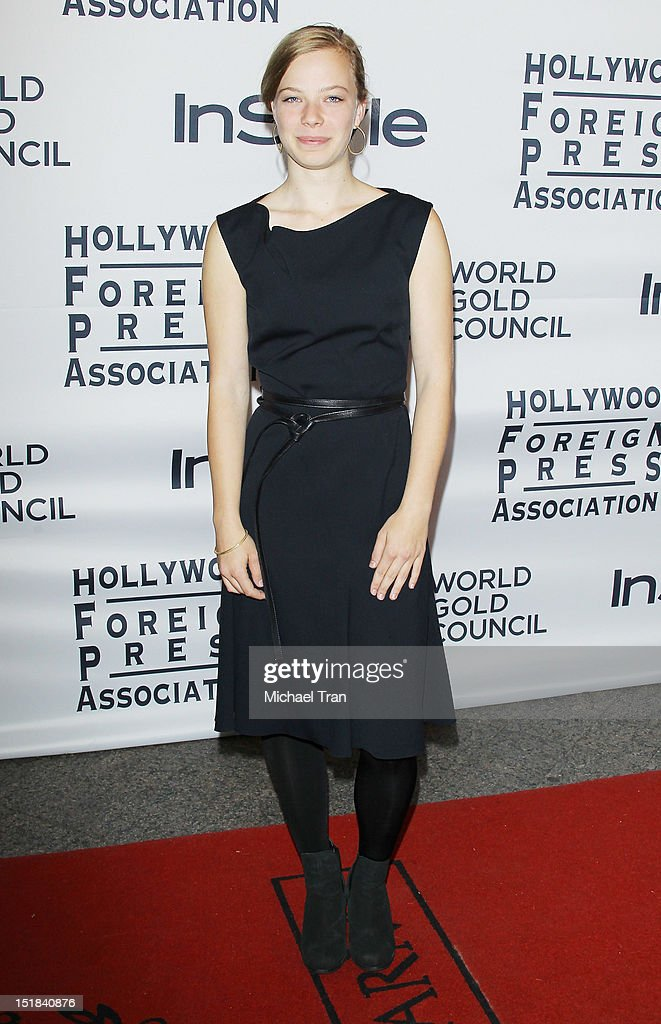 Saskia Rosendahl arrives at the Instyle and the Hollywood Foreign Press Association Party during the 2012 Toronto International Film Festival held at Windsor Arms Hotel on September 11, 2012 in Toronto, Canada.
