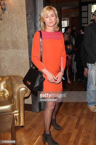 Saskia Valencia attends the NDF After Work Presse Cocktail at Parkcafe on March 19 2014 in Munich Germany