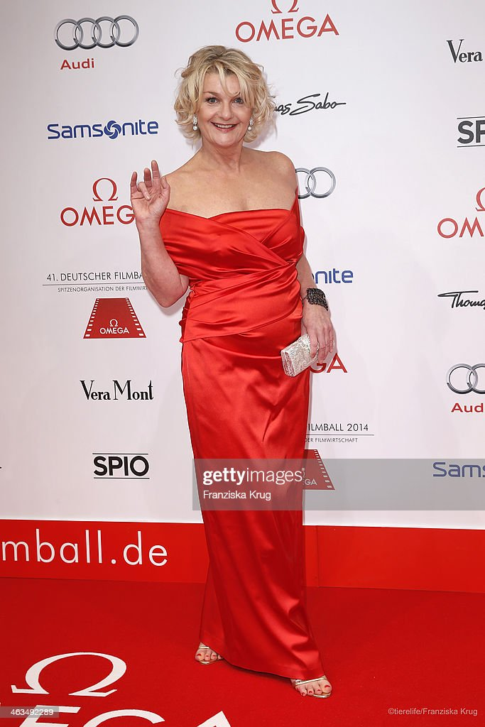 Saskia Vester attends the German Film Ball 2014 - Red Carpet Arrivals on January 18, 2014 in Munich, Germany.