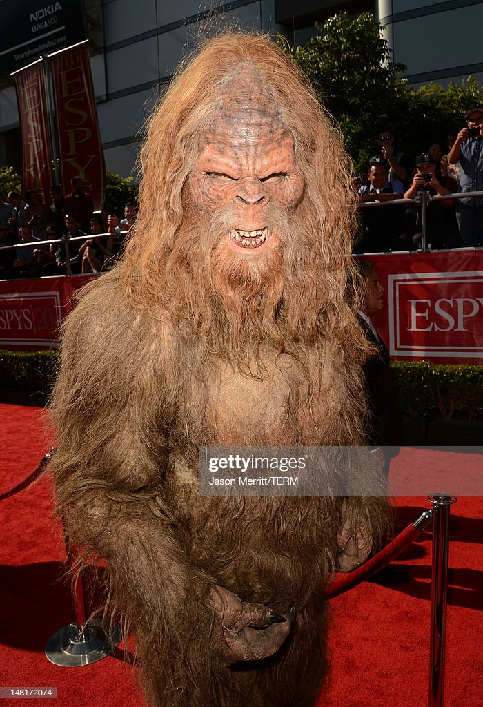 Sasquatch arrives at the 2012 ESPY Awards at Nokia Theatre LA Live on July 11 2012 in Los Angeles California