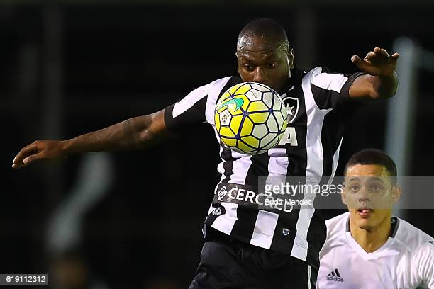 Sassa of Botafogo controls the ball during a match between Botafogo and Coritiba as part of Brasileirao Series A 2016 at Luso Brasileiro stadium on...
