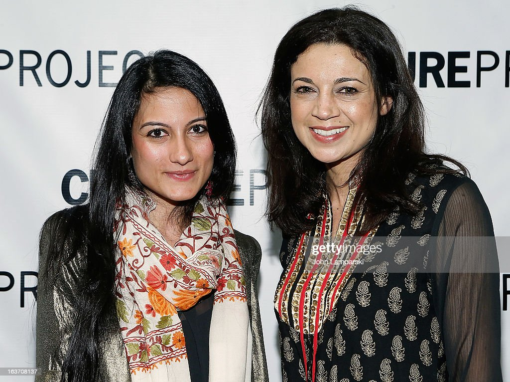 Sassi Banir and Anna Khaja attend the 'Shaheed: The Dream And Death Of Benazir Bhutto' Off-Broadway Opening Night at Culture Project on March 14, 2013 in New York City.