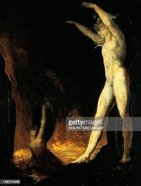 Satan calling to Beelzebub by Johann Heinrich Fussli 91x71 cm Zürich Kunsthaus