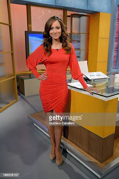 Satcha Pretto appears on the set of Univisions 'Despierta America' at Univision Headquarters on October 30 2013 in Miami Florida