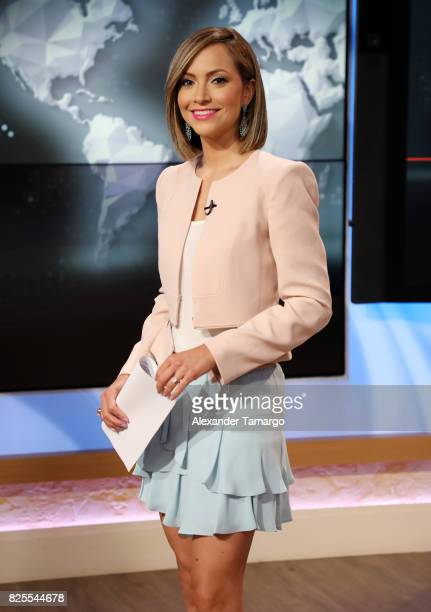 Satcha Pretto is seen on the set of 'Despierta America' at Univision Studios on August 2 2017 in Miami Florida