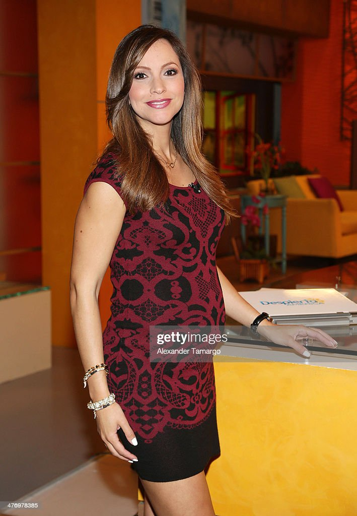 Satcha Pretto is seen on the set of Univision's Despierta America morning show at Univision Headquarters on March 6, 2014 in Miami, Florida.