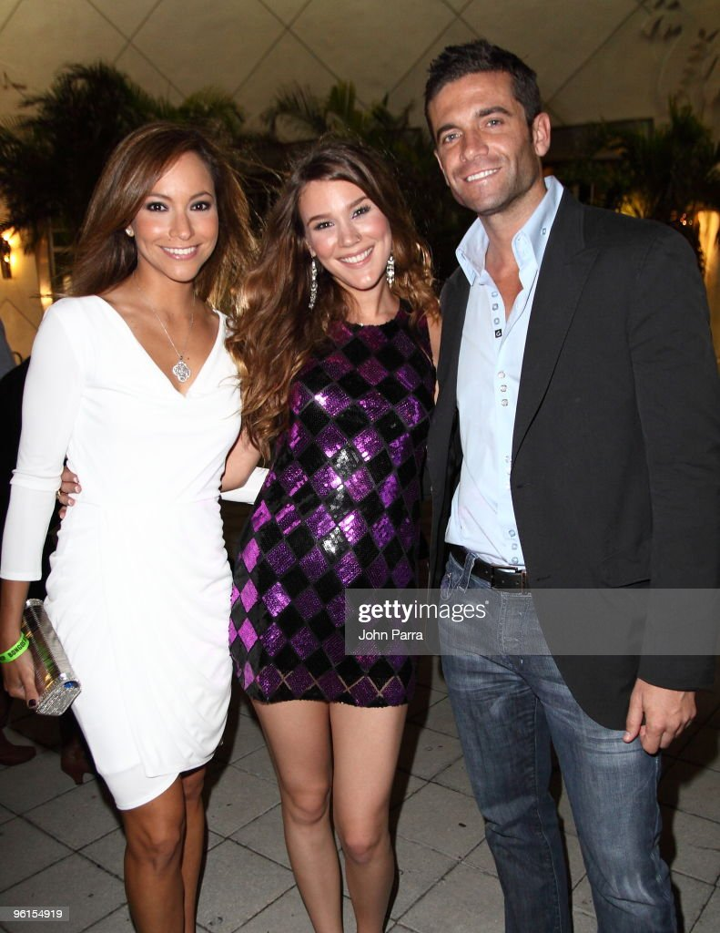 Satcha Pretto, Joss Stone and Aaron Butter attend the Operation Hope For Haiti benefit at Bongos on January 24, 2010 in Miami, Florida.