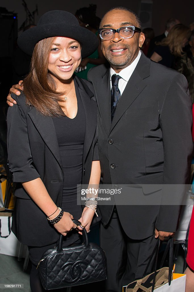 Satchel Lee (L) and director <a gi-track='captionPersonalityLinkClicked' href=/galleries/search?phrase=Spike+Lee&family=editorial&specificpeople=156419 ng-click='$event.stopPropagation()'>Spike Lee</a> attend The Museum of Modern Art's Jazz Interlude Gala after party at Museum of Modern Art on December 12, 2012 in New York City.
