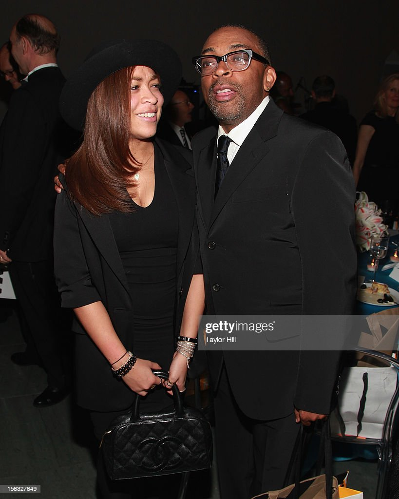 Satchel Lee and father <a gi-track='captionPersonalityLinkClicked' href=/galleries/search?phrase=Spike+Lee&family=editorial&specificpeople=156419 ng-click='$event.stopPropagation()'>Spike Lee</a> attend The Museum of Modern Art's Jazz Interlude Gala After Party at MOMA on December 12, 2012 in New York City.