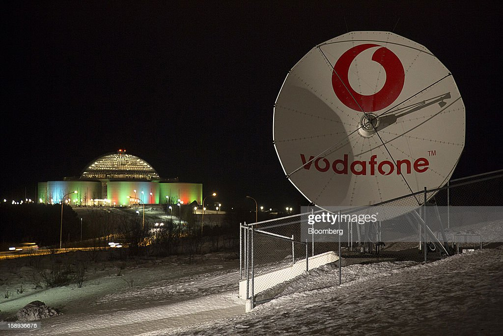 A satellite communications dish operated by Vodafone Iceland Fjarskipti hf stands in Reykjavik, Iceland, on Tuesday, Jan. 1, 2013. Iceland's inflation rate eased in December as central bank efforts to stabilize the krona with interest rate increases paid off. Photographer: Arnaldur Halldorsson/Bloomberg via Getty Images