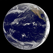 Satellite image of Earth over the Pacific Ocean on March 11, 2011. Waves from the powerful 8.9 Richter scale earthquake in Japan created a tsunami that is moving through the Pacific at this time.