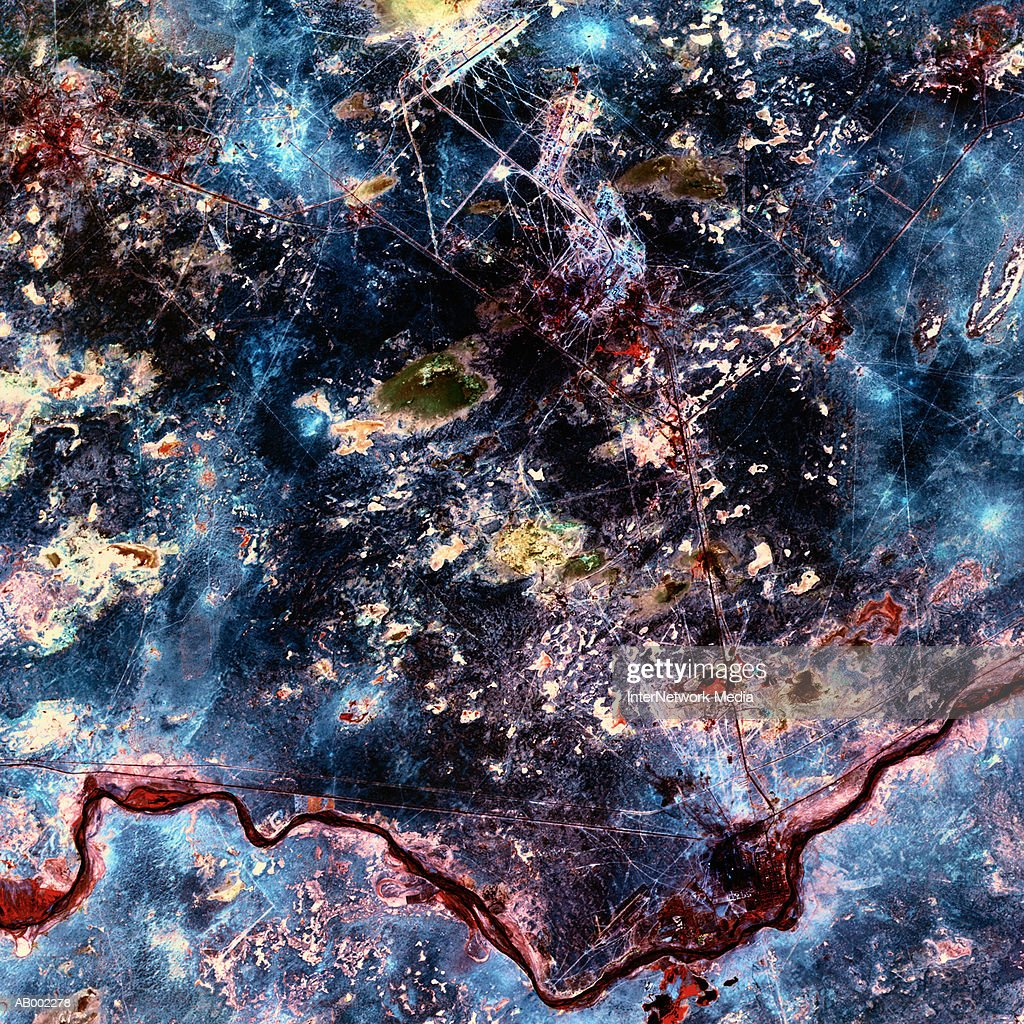 Satellite Image of Earth : Stock Photo