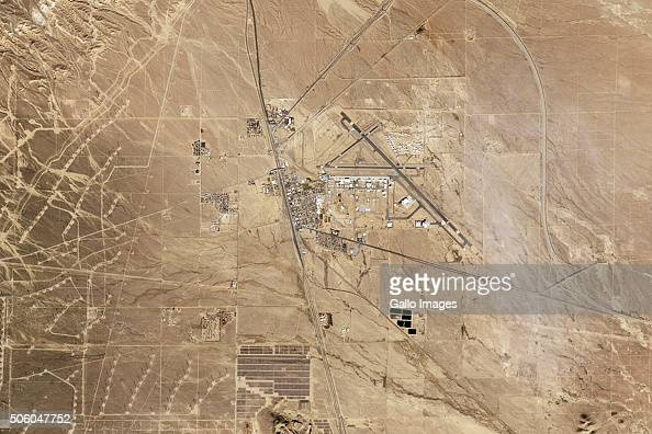 Satellite image of Mojave Air and Space Port on December 13 2015 in California USA