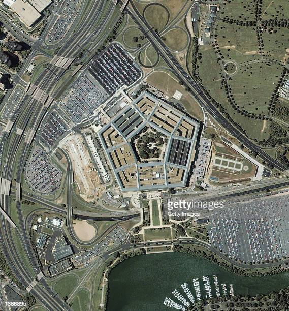 A satellite image of the Pentagon reconstruction was taken September 7 2001 by the IKONOS satellite over Washington DC four days before the terrorist...