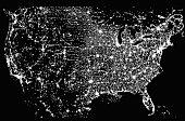 Satellite Image of the United States at Night