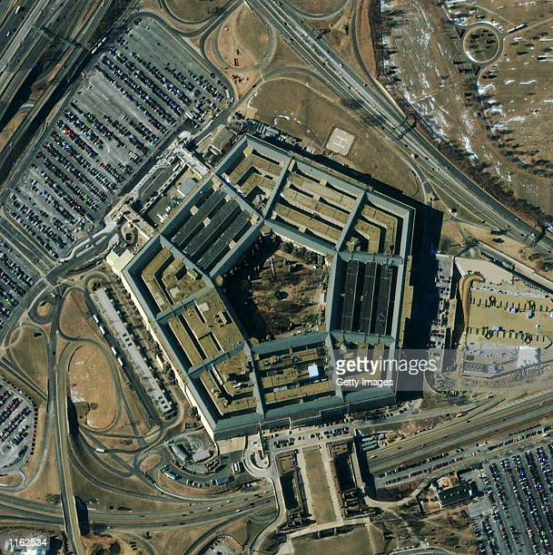 A satellite image shows the fivesided Pentagon building December 28 2000 in Arlington Virginia