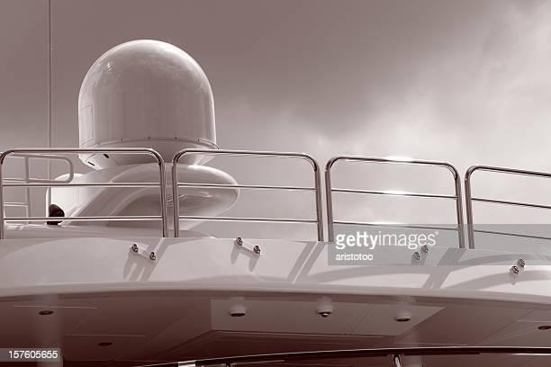 Satellite Navigation on Motor Yacht