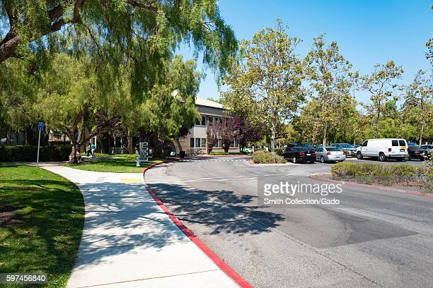 Satellite offices in a nearby office park at the Googleplex headquarters of the search engine company Google in the Silicon Valley town of Mountain...