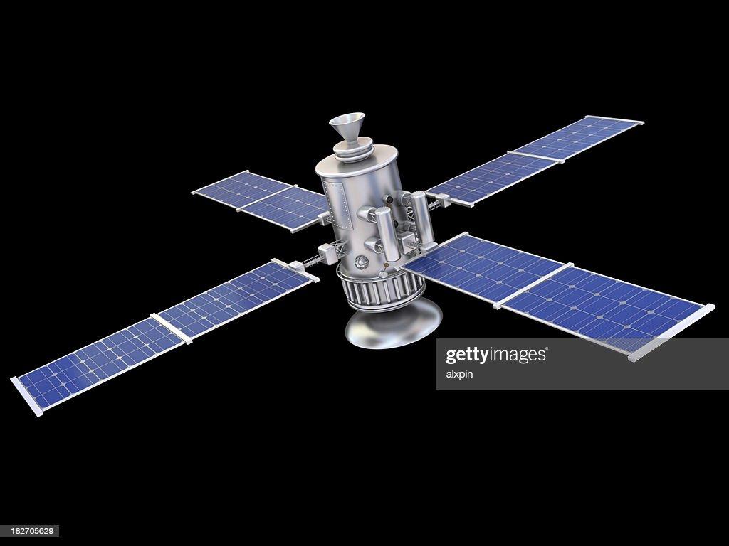 Satellite on black