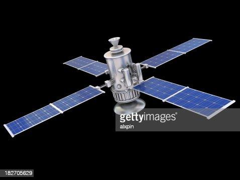 Satellite sur noir