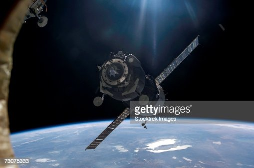 Satellite orbiting around Earth