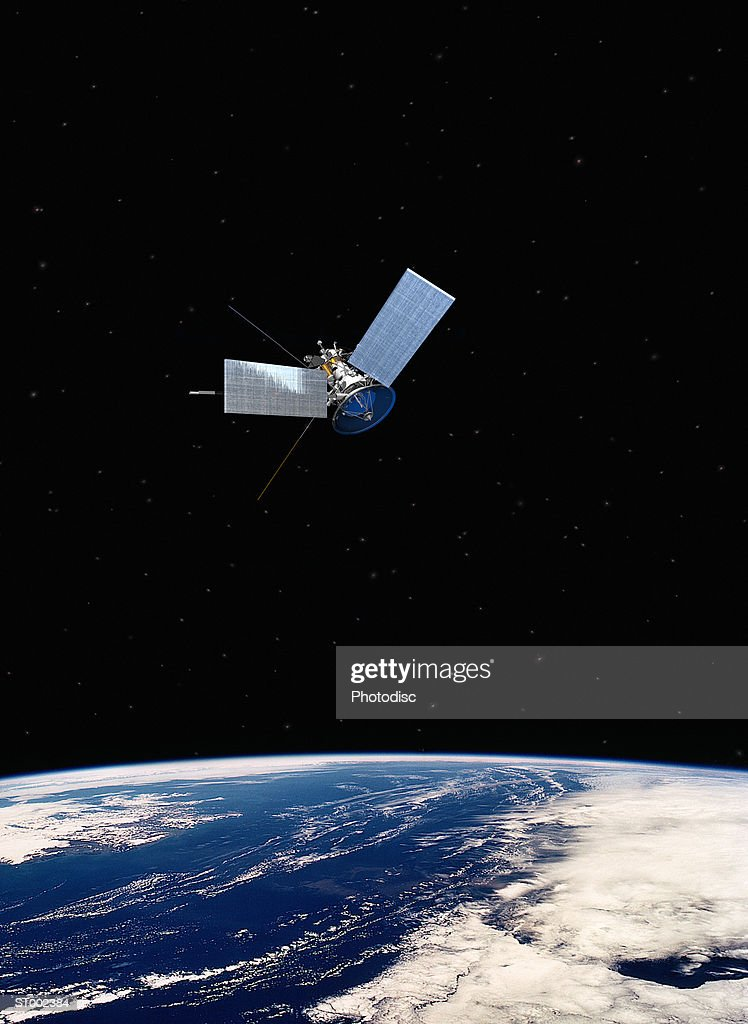 Satellite over a Planet