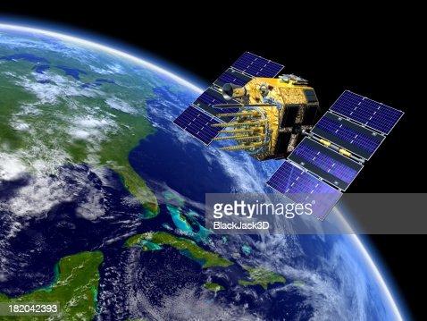 GPS Satellite sur la terre
