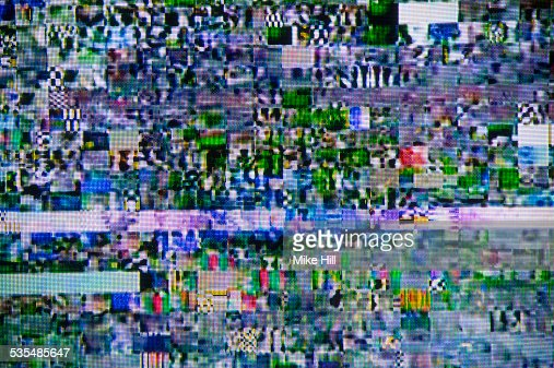 satellite signal interference pattern on tv stock photo getty images. Black Bedroom Furniture Sets. Home Design Ideas