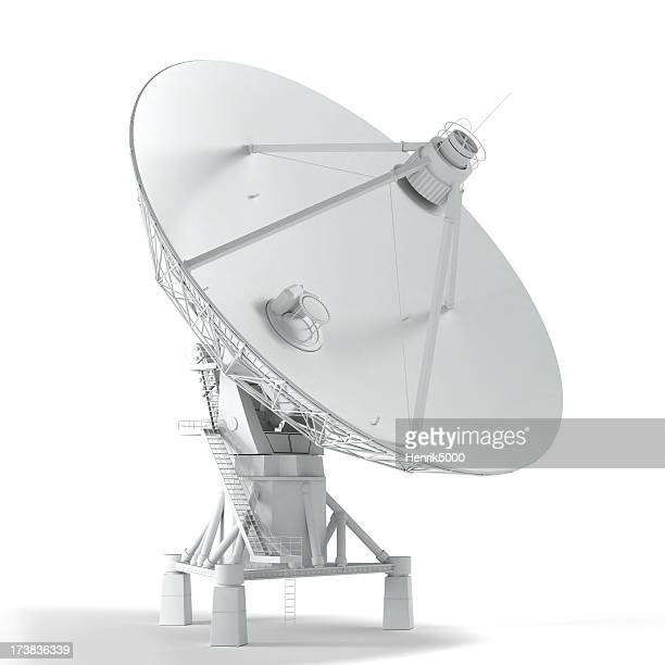 VLA - satellite telescope isolated on white