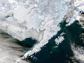 Satellite view of Southwestern Alaska.