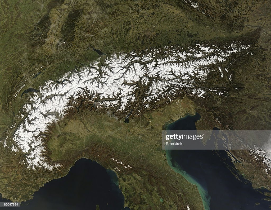 Satellite view of The Alps