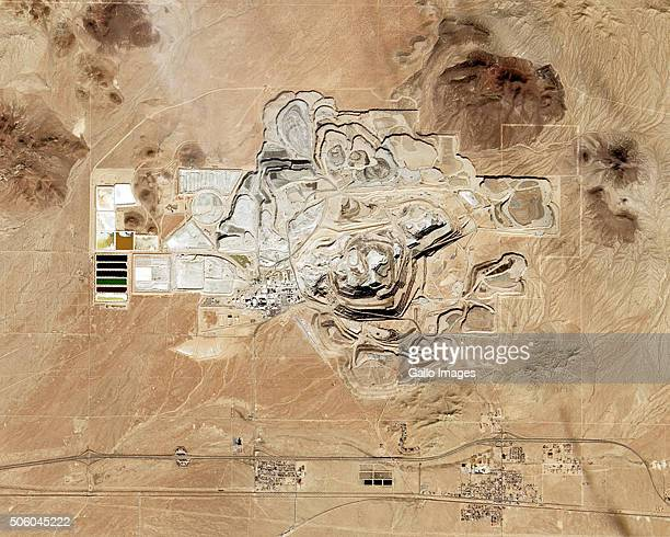 A satellite view of the Rio Tinto Borax mine in Boron on December 13 2015 in California USA The mine is the largest borax mine in the world