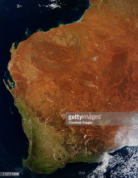 Satellite view of Western Australia.