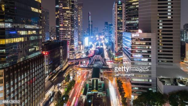 Sathorn Intersection, BTS Chong nonsi, Downtown Bangkok, Thailand