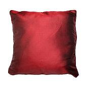 Satin cushion isolated on white background