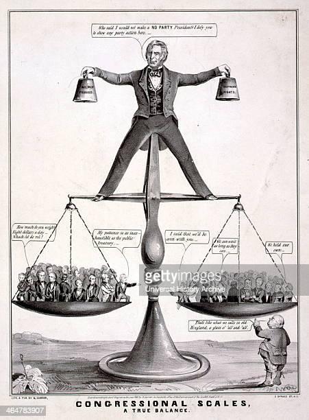 Satire on President Zachary Taylor 1850