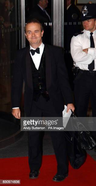 Satirist Ian Hislop arrives for the 2002 Breast Cancer Care Fashion Show at the Hilton Hotel All participating models have had breast surgery
