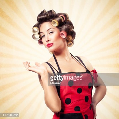 Satisfied Pin-up girl