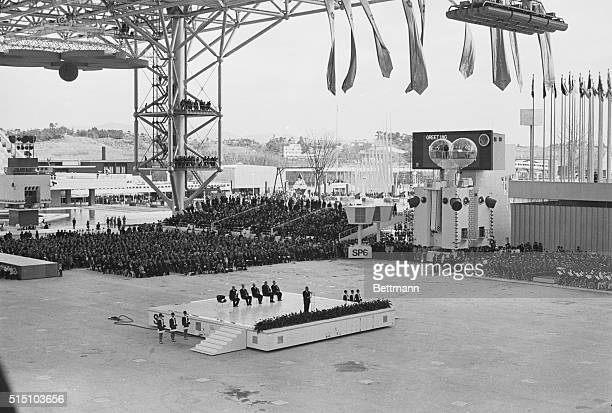 Sato Eisaku Japanese Prime Minister at opening of Expo '70