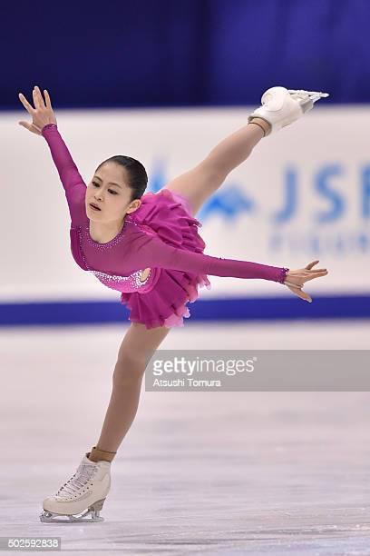 Satoko Miyahara of Japan competes in the Ladies free skating during the day three of the 2015 Japan Figure Skating Championships at the Makomanai Ice...