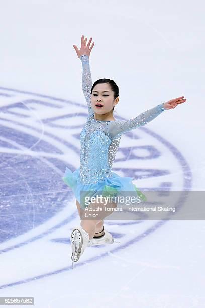Satoko Miyahara of Japan competes in the Ladies short program during the ISU Grand Prix of Figure Skating NHK Trophy on November 25 2016 in Sapporo...